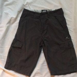 Boys dark grey plaid cargo pants. Vans size 12